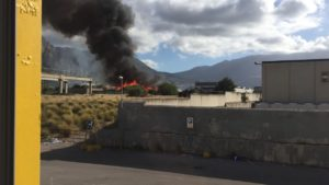 Pauroso incendio sulla statale 113