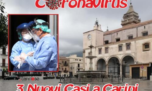 3 nuovi casi a Carini